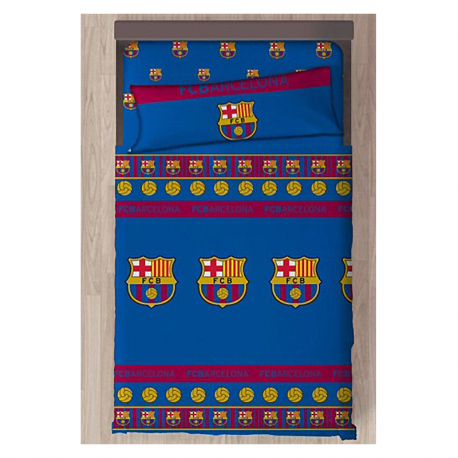 Juego de sábanas 90 cm. del F.C.Barcelona.