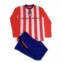 Pijama de adulto de manga larga del Atlético de Madrid.