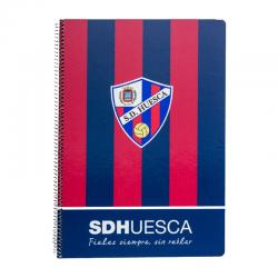 S.D.Huesca Dina A4 spiral notebook.