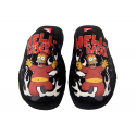 The Simpsons Slippers at home.