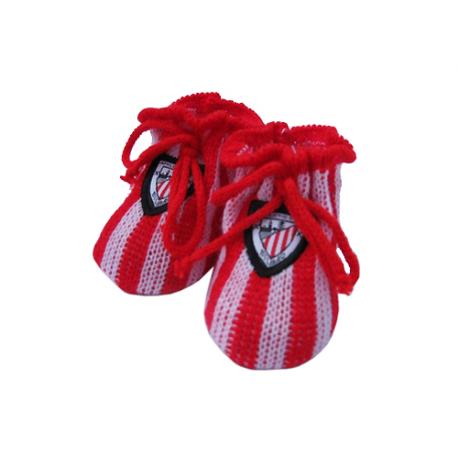 Patucos para bebé del Athletic de Bilbao.