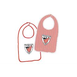 Athletic de Bilbao pack of two baby bibs.