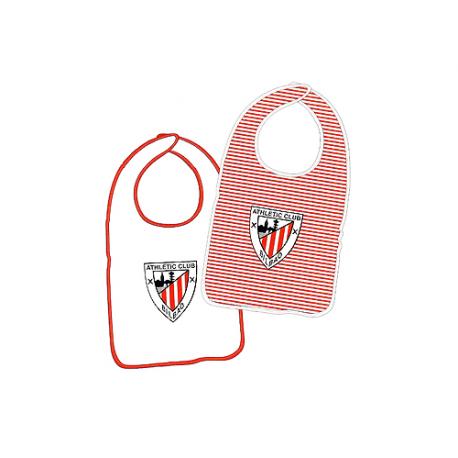 Pack de dos baberos para bebé del Athletic de Bilbao.