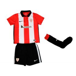 Minikit niños pequeños 1ª equipación Athletic de Bilbao 2015-16.