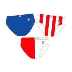 Pack de 3 slips para niño del Atlético de Madrid.